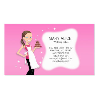 Flirty and Fun Culinary Business Card