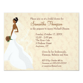 Flirty Champagne Bridal Shower Card