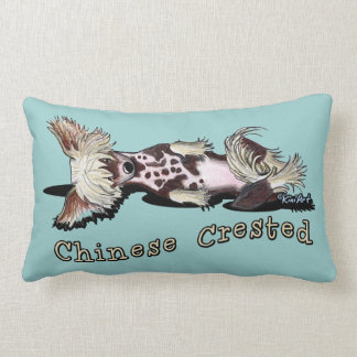 Flirty Chinese Crested Pillow
