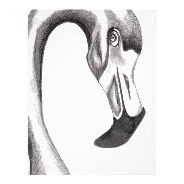 Beach Themed Flirty Flamingo Letterhead