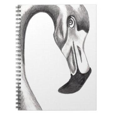 Beach Themed Flirty Flamingo Notebook
