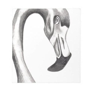 Beach Themed Flirty Flamingo Notepad