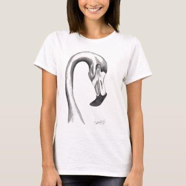 Beach Themed Flirty Flamingo T-Shirt