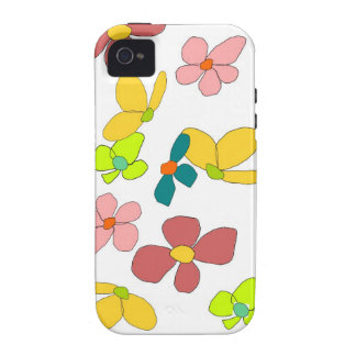 flirty flowers iphone case iPhone 4 covers