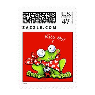 Flirty Frog n Ladybug Postage