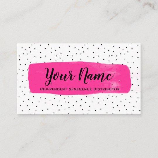 flirty fuchsia lipsense business card - Senegence Business Cards