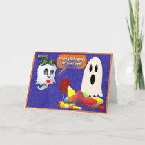 Flirty Ghost Note Card by Gena Livings