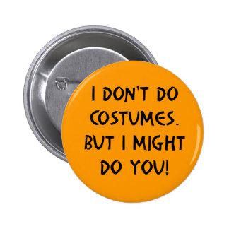Flirty Halloween Pinback Buttons