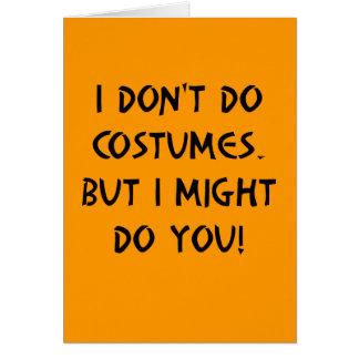 Flirty Halloween Card