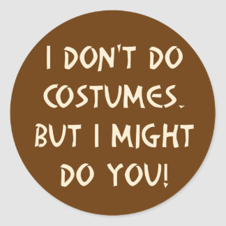 Flirty Halloween Classic Round Sticker