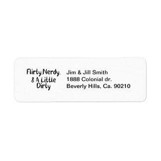 Flirty Nerdy & A Little Dirty Label