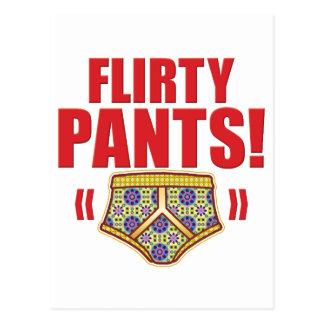 Flirty Pants Flowery Post Card