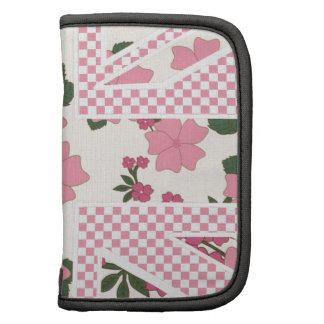 Flirty Pink Floral Union Jack Flag Pattern by Leah Planner