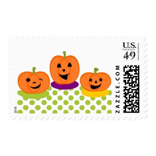 Flirty Pumpkins Postage Stamp