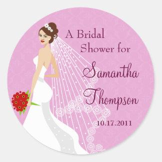 Flirty Rose Bridal Shower Sticker