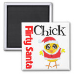Flirty Santa Chick Magnet