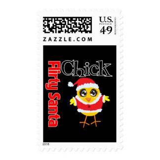 Flirty Santa Chick Postage Stamp