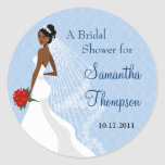 Flirty Sapphire Bridal Shower Sticker