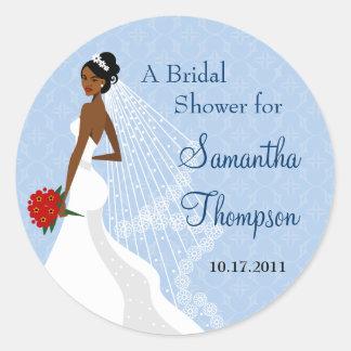 Flirty Sapphire Bridal Shower Sticker