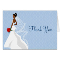 Flirty Sapphire Bridal Shower thank you Card
