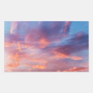 flirty sky rectangular sticker