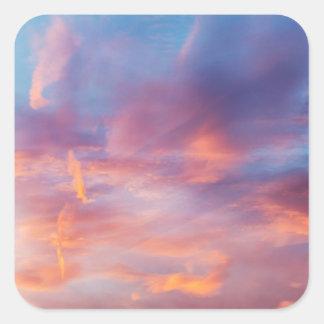 flirty sky square sticker