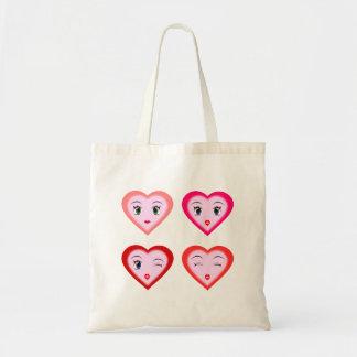 Flirty Smiley Hearts Tote Bag