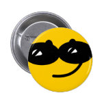 Flirty sunglasses smiley face buttons