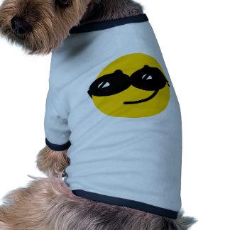 Flirty sunglasses smiley face doggie tee shirt