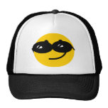 Flirty sunglasses smiley face hat