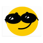 Flirty sunglasses smiley face post cards
