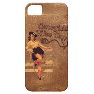 Flirty Vintage Retro Rodeo Country CowGirl iphone5 iPhone SE/5/5s Case