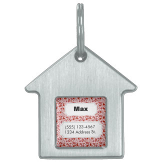 Flittering Florals Pet Name Tag