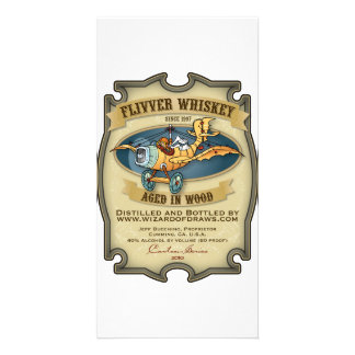 Flivver Whiskey Label Customized Photo Card