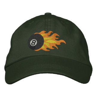 Flming 8-ball embroidered baseball hat