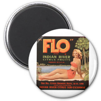 """Flo"" Indian River Fruit Magnet"