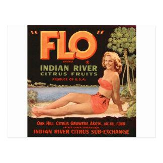 """Flo"" Indian River Fruit Postcard"