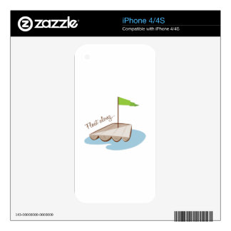 Float Along iPhone 4 Decal