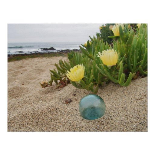 Float and Yellow Ice Plant Print