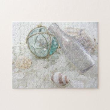 JoellesSeaGlass Float & Bottle on Sea Glass Jigsaw Puzzle