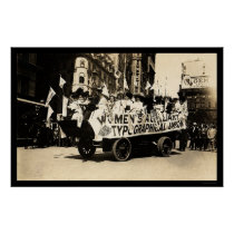Float in Labor Day Parade New York City 1909 Poster