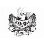 Float in Love skull Postcard