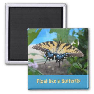 Float like a Butterfly Fridge Magnets