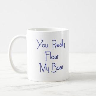 Float My Boat Classic White Coffee Mug