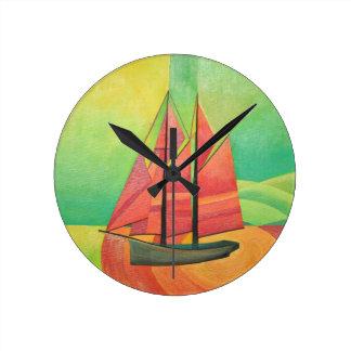 Float My Boat Wall Clock