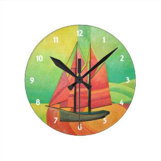 Float My Boat Round Clocks