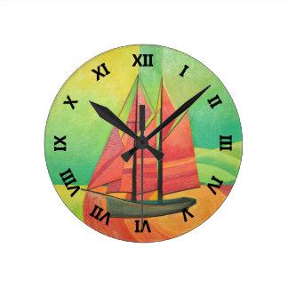 Float My Boat Wall Clocks
