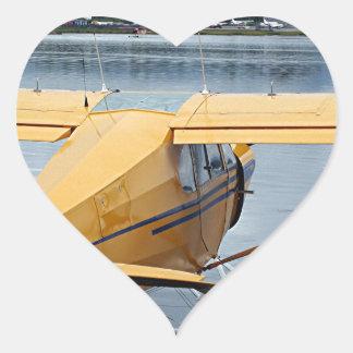 Float plane 6, Lake Hood, Anchorage, Alaska, USA Heart Sticker