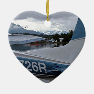 Float plane 8, Lake Hood, Anchorage, Alaska, USA Ceramic Ornament