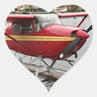 Float Plane Lake Hood  22 Heart Sticker